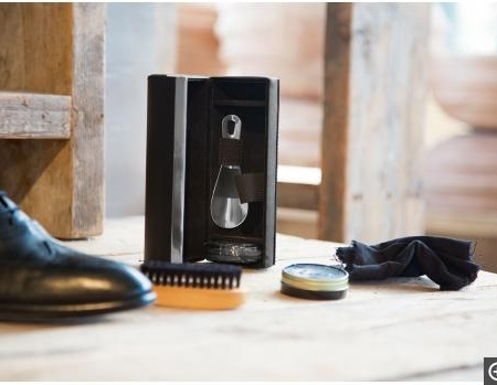 Travel goods, shoe shine kit
