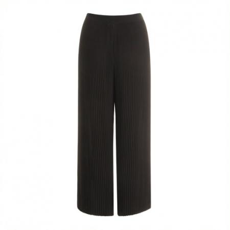 Black Wide Leg Pleated Pants