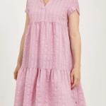 Bubblegum Dress with small collar