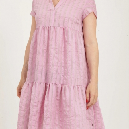 Bubblegum Dress with small collar