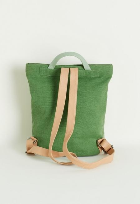 Green Canvas Bucket Backpack