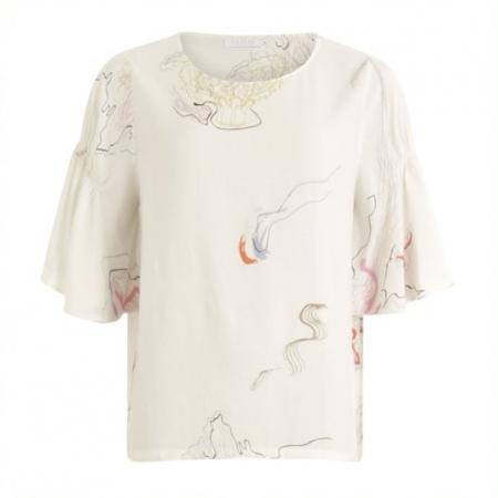 Jelly fish print blouse