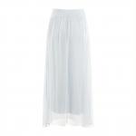 Blue Fog Layered Long skirt
