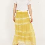 Yellow Tie Dye Long Skirt