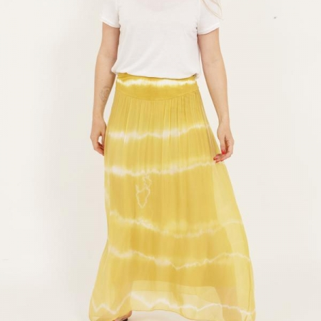 Yellow Tie Dye Long Skirt