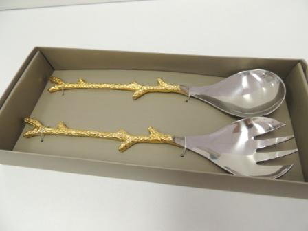 Stainless Steel Sald Servers, Wedding gifts. golden anniversary