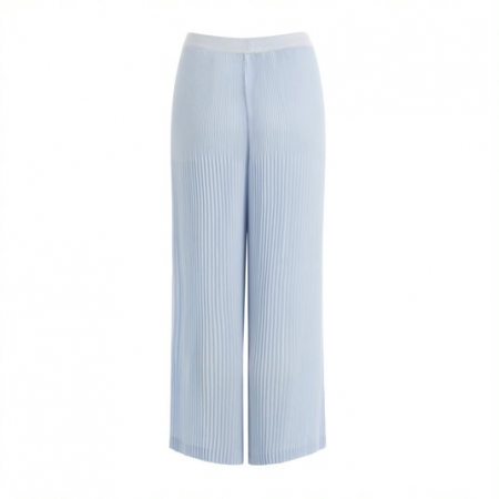 Blue Fog Wide Leg Pleated Pants