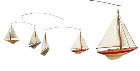 Yatchts, boats hanging mobiles for kids rooms,