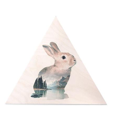 Bunny art, Danish art, children's art, gifts for children, animal art, faunascapes, danish art prints